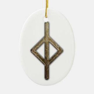 Elder Futhark Rune Jera Ornaments
