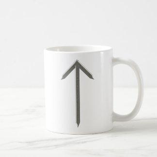 Elder Futhark Rune Tyr Basic White Mug