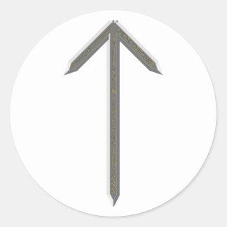 Elder Futhark Rune Tyr Round Sticker