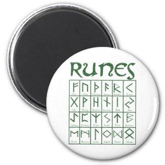 Elder Futhark Runes 6 Cm Round Magnet