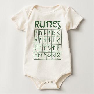 Elder Futhark Runes Baby Bodysuits