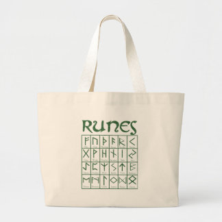 Elder Futhark Runes Large Tote Bag