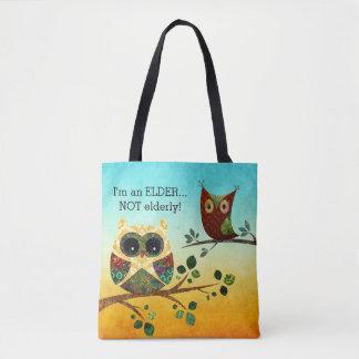 Elder Owl Wisdom Tote Bag