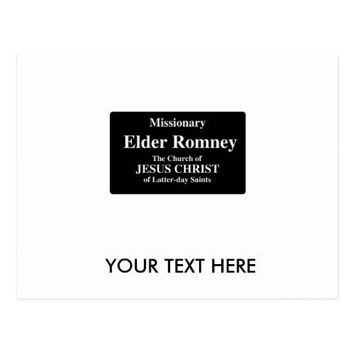 Elder Romney Post Card
