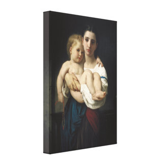 Elder Sister by William-Adolphe Bouguereau Stretched Canvas Prints