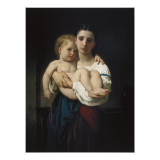 Elder Sister by William-Adolphe Bouguereau Poster
