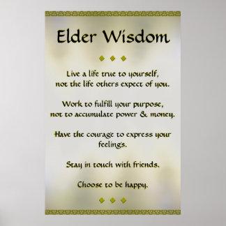 Elder Wisdom Gold Poster