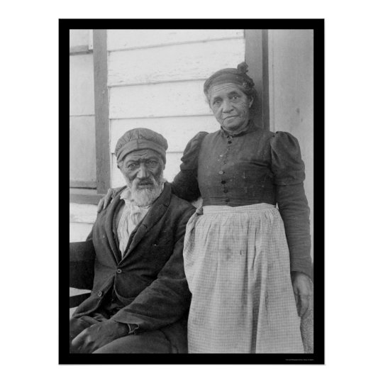 Elderly African American Couple 1900 Poster