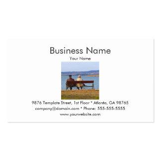 Elderly Couple Business Card Template