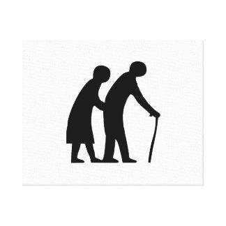 Elderly Couple Canvas Prints