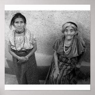 Elderly mayan women poster