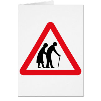 Elderly People (1), Traffic Sign, UK Card