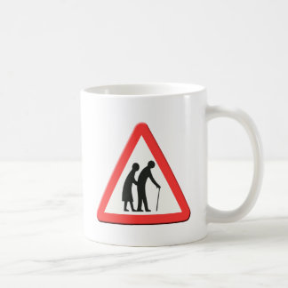 Elderly people road sign UK Coffee Mug