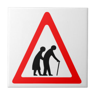 Elderly People Small Square Tile