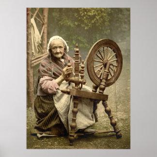 Elderly Spinner Poster