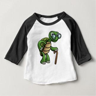 Elderly Tortoise Cartoon Character Baby T-Shirt