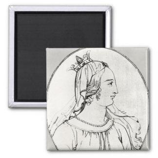 Eleanor of Aquitaine Square Magnet