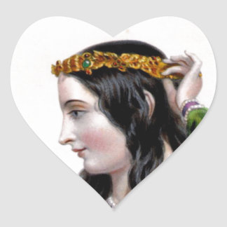 Eleanor of Provence Heart Stickers