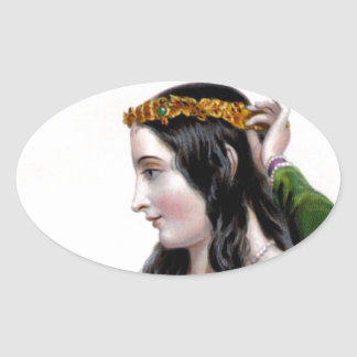 Eleanor of Provence Oval Stickers