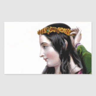 Eleanor of Provence Rectangle Stickers