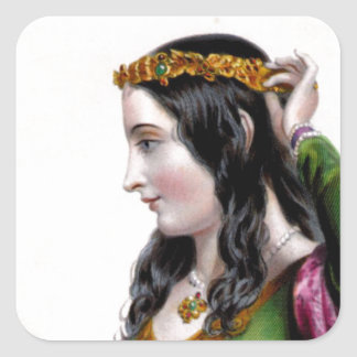 Eleanor of Provence Square Stickers
