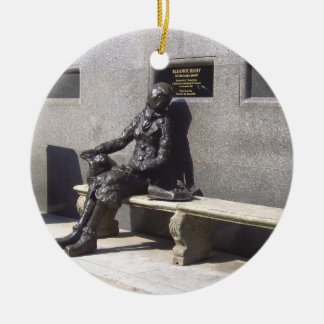 Eleanor Rigby Statue, Liverpool, UK. Christmas Ornament