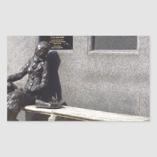 Eleanor Rigby Statue, Liverpool UK Rectangular Sticker