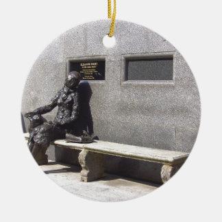 Eleanor Rigby Statue, Liverpool UK Round Ceramic Decoration