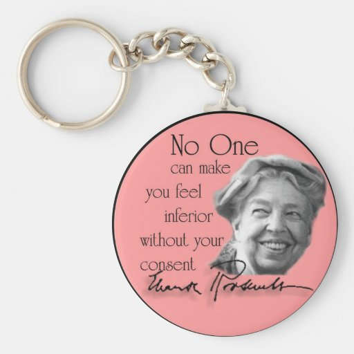 Eleanor Roosevelt - First Lady of the World Basic Round Button Key Ring