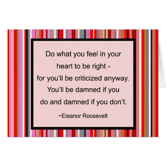 Eleanor Roosevelt Quote Card