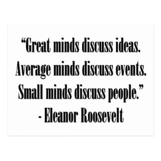 Eleanor Roosevelt Quote Post Card