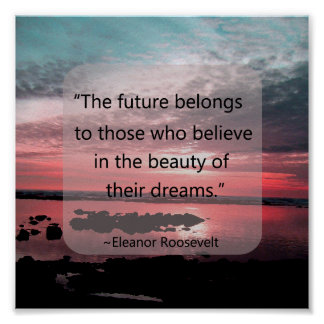Eleanor Roosevelt Quote Poster