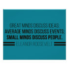 Eleanor Roosevelt 'The Three Minds' Quote Poster