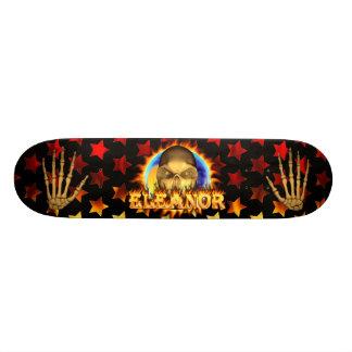 Eleanor skull real fire and flames skateboard desi