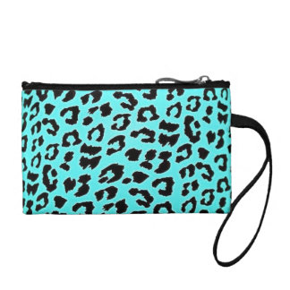 Elecrtic blue leopard Print Coin Purse