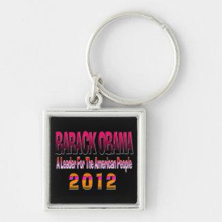 ELECT BARACK OBAMA 2012 Silver-Colored SQUARE KEY RING