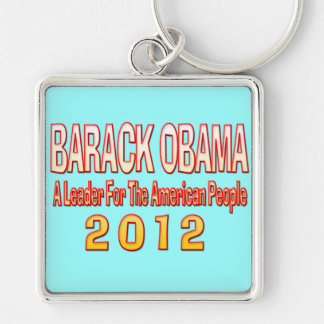 ELECT BARACK OBAMA 2012 Silver-Colored SQUARE KEY RING