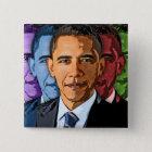 Elect Barack Obama For President 15 Cm Square Badge