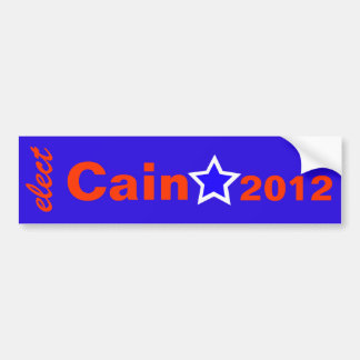 Elect Cain 2012 Bumper Sticker