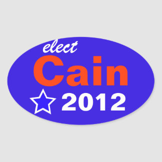 Elect Cain 2012 Oval Sticker