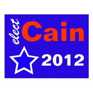 Elect Cain 2012 Postcard