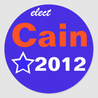 Elect Cain 2012 Round Sticker
