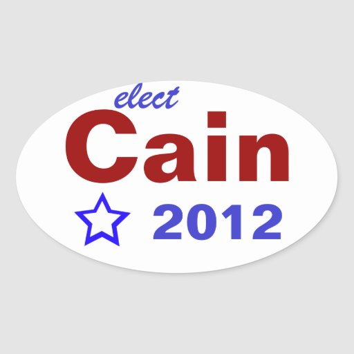 Elect Cain 2012 Oval Stickers