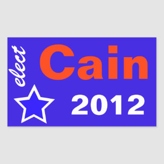 Elect Cain 2012 Stickers