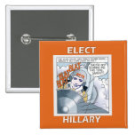 Elect Hillary 2016 15 Cm Square Badge