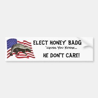 Elect Honey Badger Bumper Sticker