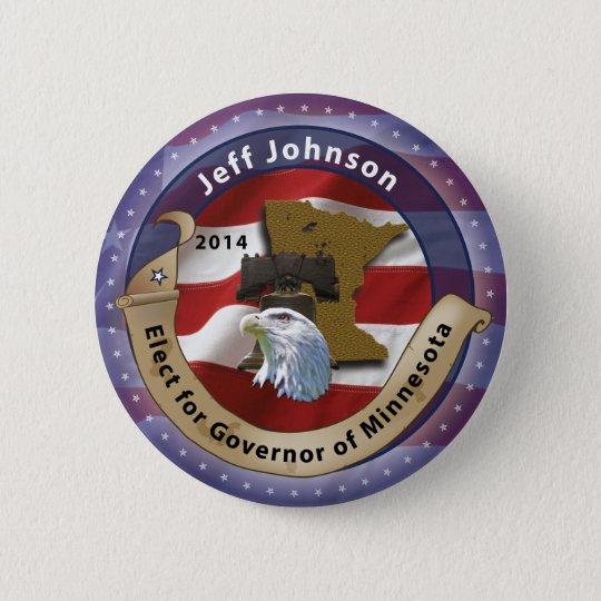 Elect Jeff Johnson for Governor of Minnesota 6 Cm Round Badge