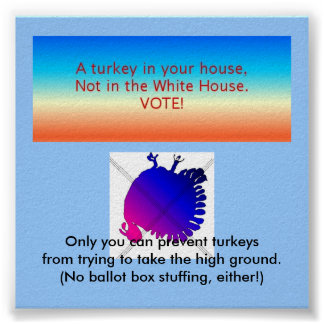 Elect no turkeys posters