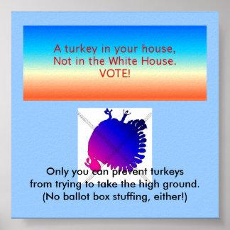 Elect no turkeys poster