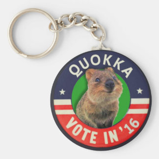 Elect Quokka president in 2016 Basic Round Button Key Ring
